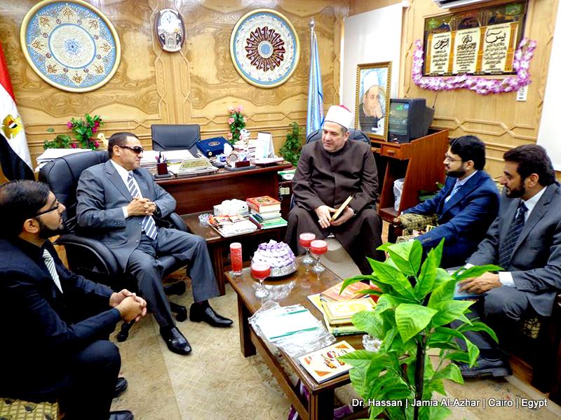 Egypt: Dr Hassan Mohi-ud-Din Qadri calls on Chancellor of Al-Azhar University