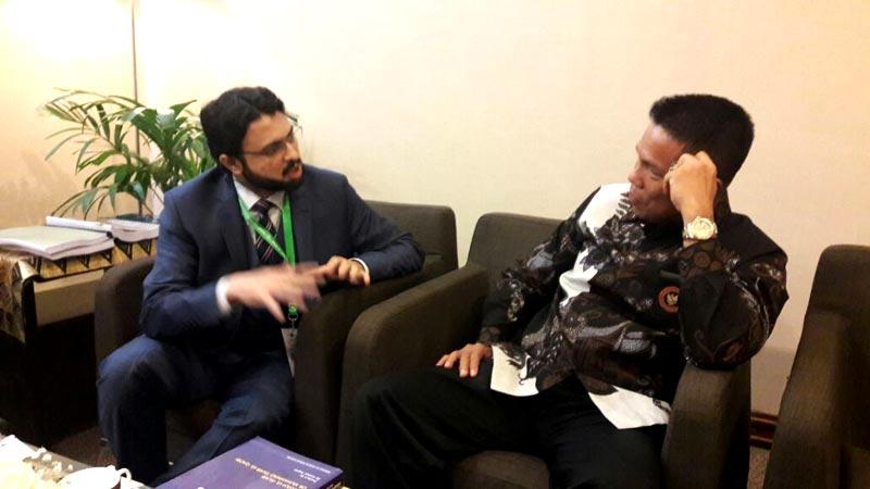 انڈونیشیا: ڈاکٹر حسن محی الدین کی کاؤنٹر ٹیرر ڈیپارٹمنٹ کے سربراہ سے ملاقات