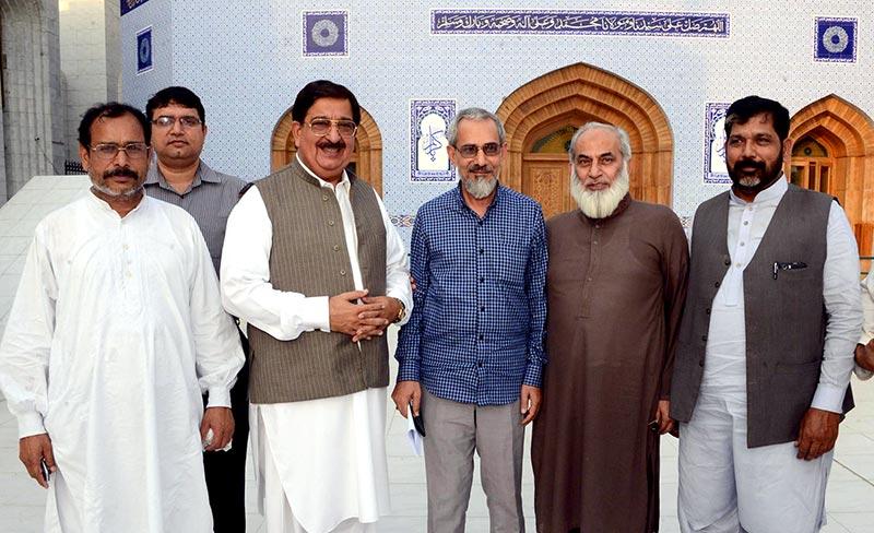 سابق ایڈیشنل سیکرٹری الیکشن کمیشن کی خرم نواز گنڈاپور و دیگر رہنماؤں سے ملاقات