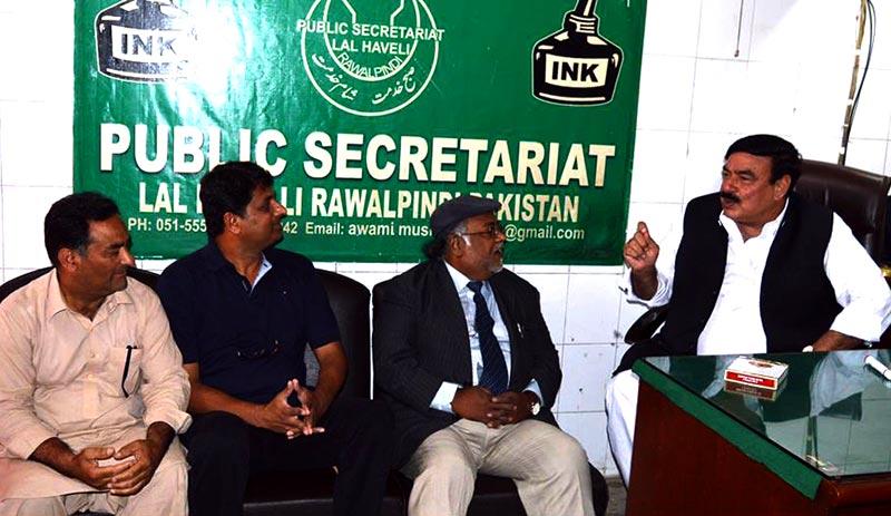 راولپنڈی: پاکستان عوامی تحریک کے وفد کی شیخ رشید سے ملاقات