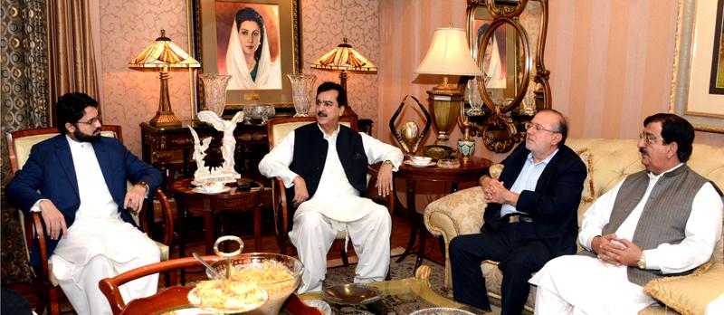 PAT delegation led by Dr Hassan Mohi-ud-Din Qadri calls on Yousaf Raza Gillani
