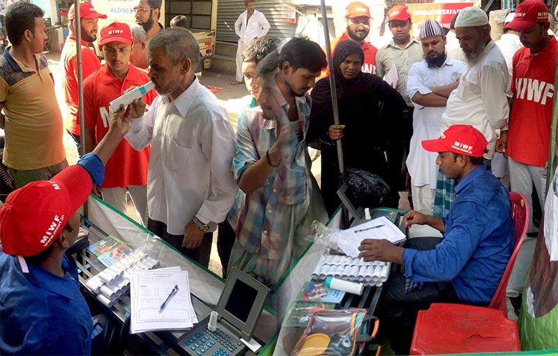 India: MWF Health Check-up Camp organized in Dharavi, Mumbai