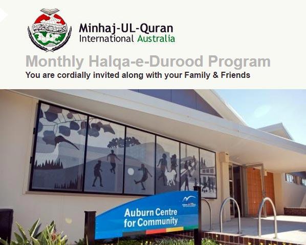 Australia: Monthly-Halqa-e-Durood-Program-by-MQI