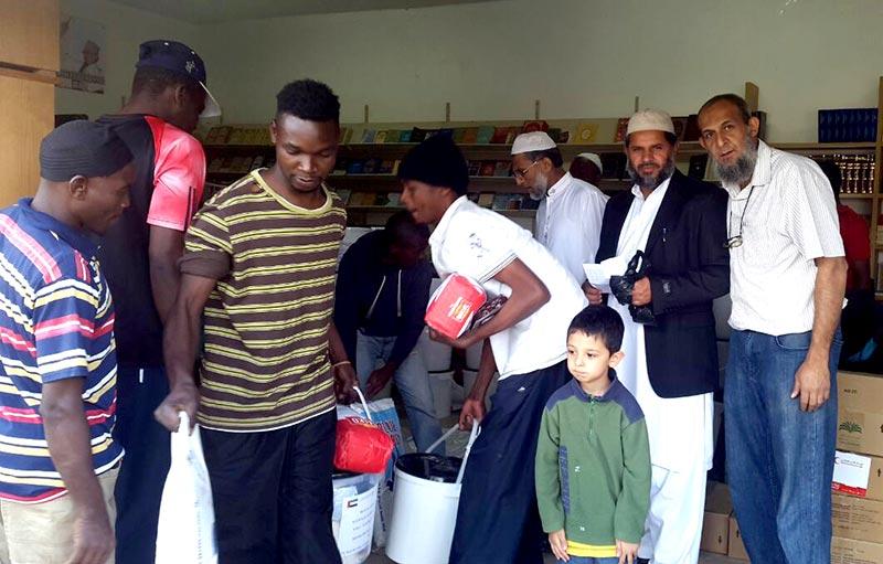 جنوبی افریقہ: منہاج ویلفیئر فاؤنڈیشن کی طرف سے رمضان پیکج کی تقسیم