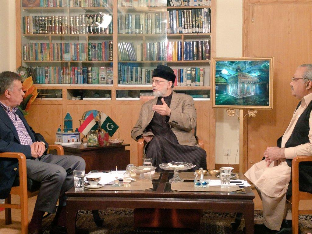 Interview of Dr Tahir-ul-Qadri with Ch Ghulam Hussain & Arif Nizami in program DNA on Channel 24 News