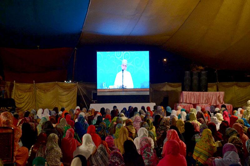منہاج القرآن ویمن لیگ کے زیراہتمام خواتین شہراعتکاف