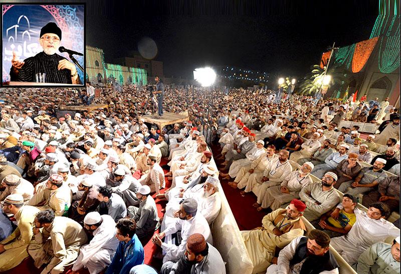 برائی کا بدلہ اچھائی سے دینا ہی تقوی کا اعلیٰ مقام ہے۔ شہر اعتکاف میں شیخ الاسلام کا معتکفین سے خطاب
