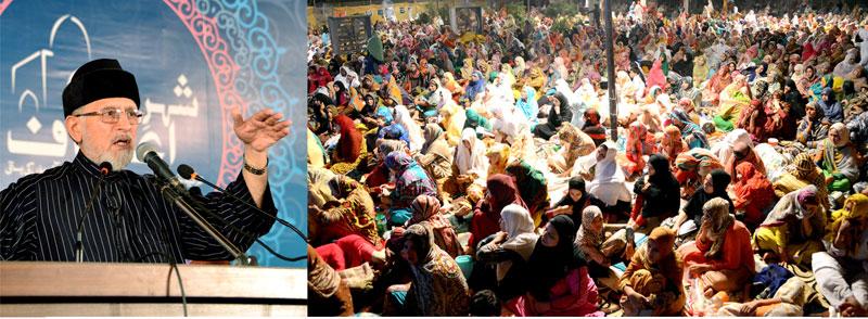 ملک بھر سے آنے والی ہزاروں معتکف خواتین کا جذبہ اور دین سے محبت قابل قدر ہے: ڈاکٹر طاہرالقادری کا معتکفات سے خطاب
