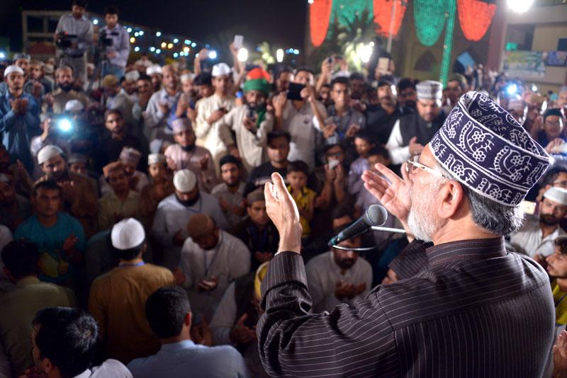 شہراعتکاف 2016 مکمل، شیخ الاسلام کی رقت آمیز دعا