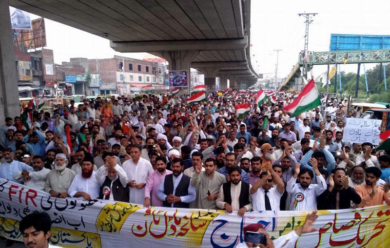 گوجرانوالہ: پاکستان عوامی تحریک کا قصاص مارچ اور دھرنا