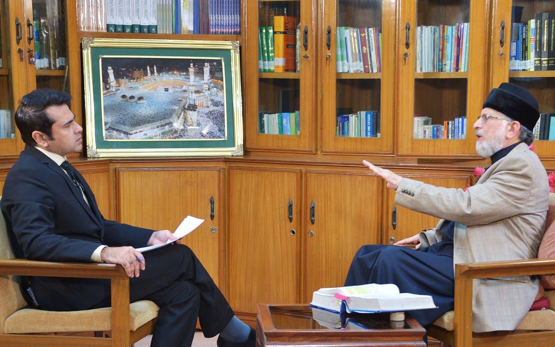 Dr Tahir-ul-Qadri's Interview with anchor Imran Khan on Express News