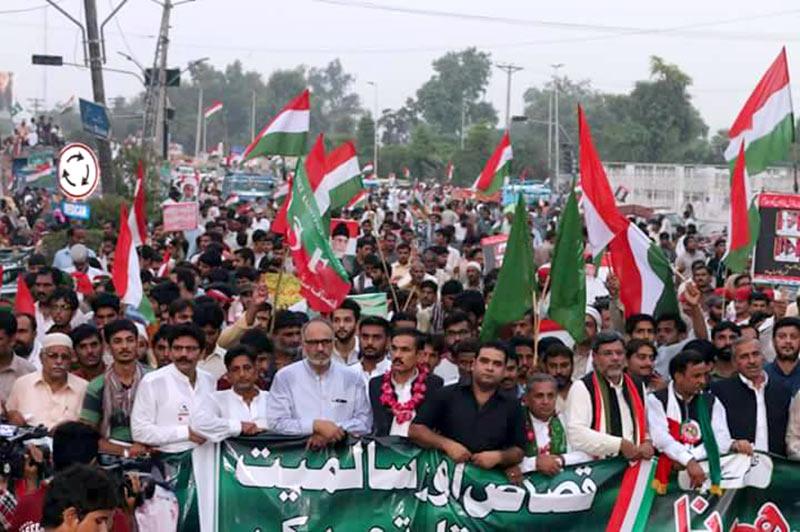فیصل آباد: پاکستان عوامی تحریک کا قصاص مارچ و دھرنا