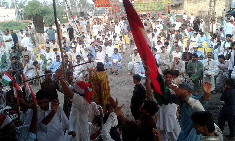 خوشاب: پاکستان عوامی تحریک قائد آباد کا قصاص مارچ و دھرنا