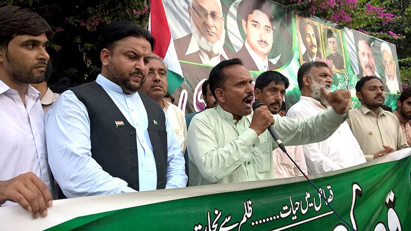 ہارون آباد: پاکستان عوامی تحریک کا قصاص مارچ و دھرنا