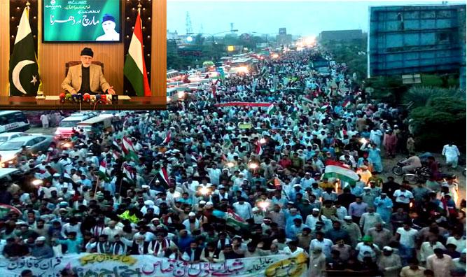 پاکستان عوامی تحریک کے گوجرانوالہ سمیت 25 شہروں میں احتجاجی دھرنے