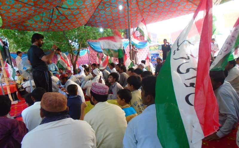 لیہ: پاکستان عوامی تحریک کا قصاص مارچ و دھرنا