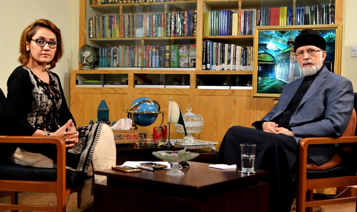 Dr Tahir-ul-Qadri's interview with Gharida Farooqi on Express News - August 26, 2016