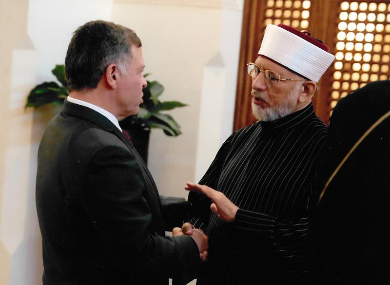 King Abdullah II of Jordan meets Dr Tahir-ul-Qadri