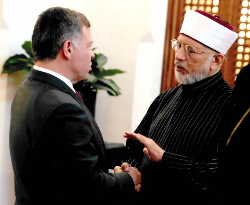 اردن: شاہ عبداللہ اور ڈاکٹر طاہرالقادری کی ملاقات