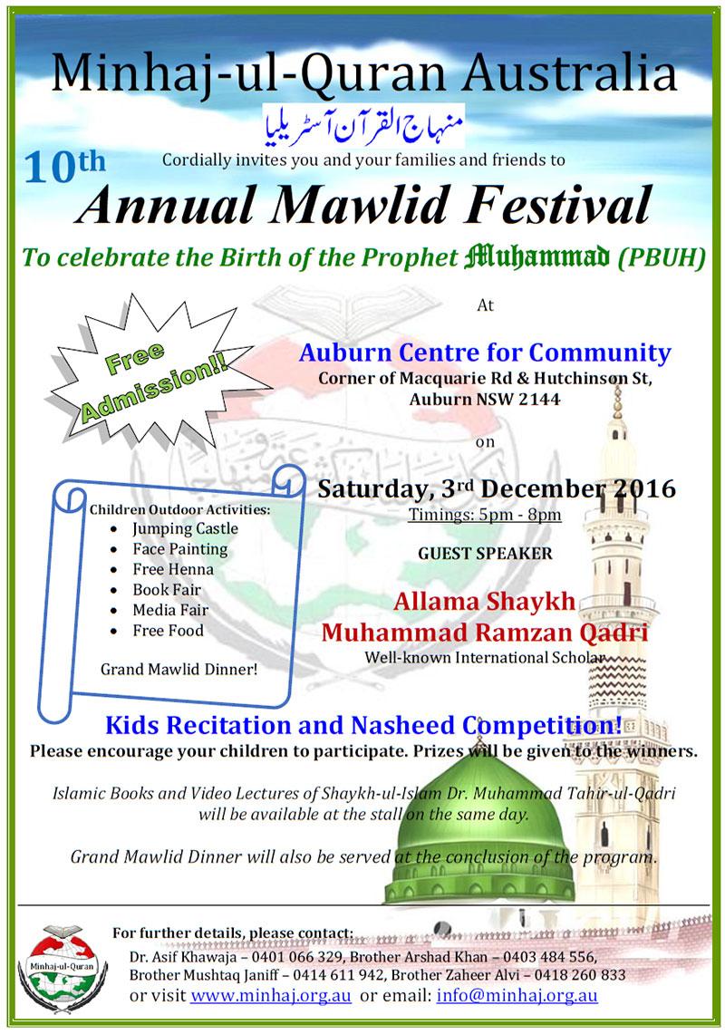 Australia: Annual Mawlid Festival in Auburn Sydney
