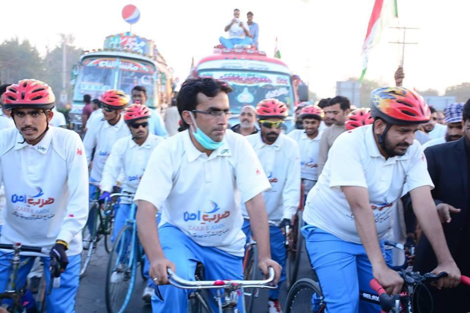 عوامی تحریک یوتھ ونگ کا ''ضرب امن وتبدیلی نظام سائیکل کاروان'' 4 دسمبر کو لاہور پہنچے گا
