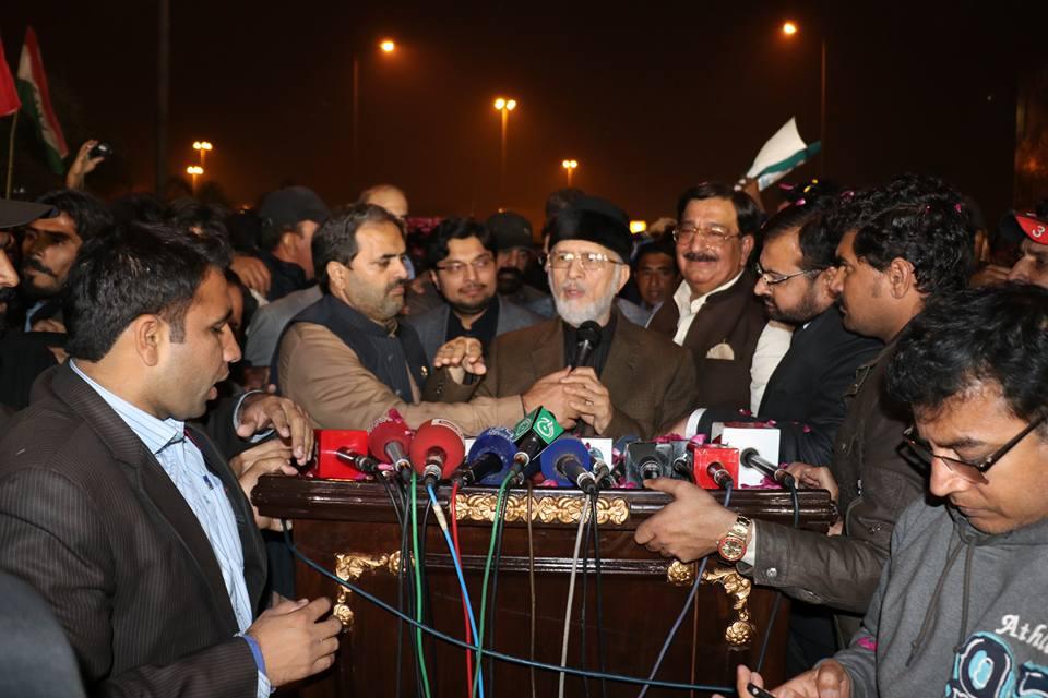 Acid test of state institutions has begun: Dr Tahir-ul-Qadri talks to media at Lahore Airport