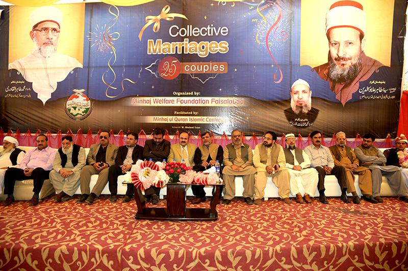 فیصل آباد: 25 جوڑوں کی شادیوں کی اجتماعی تقریب