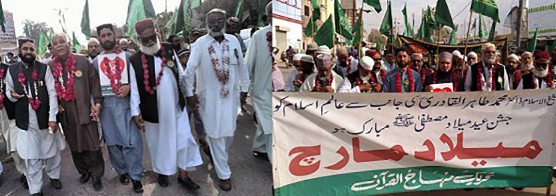 کراچی: عید میلاد النبی صلی اللہ علیہ وآلہ وسلم کے جلوس