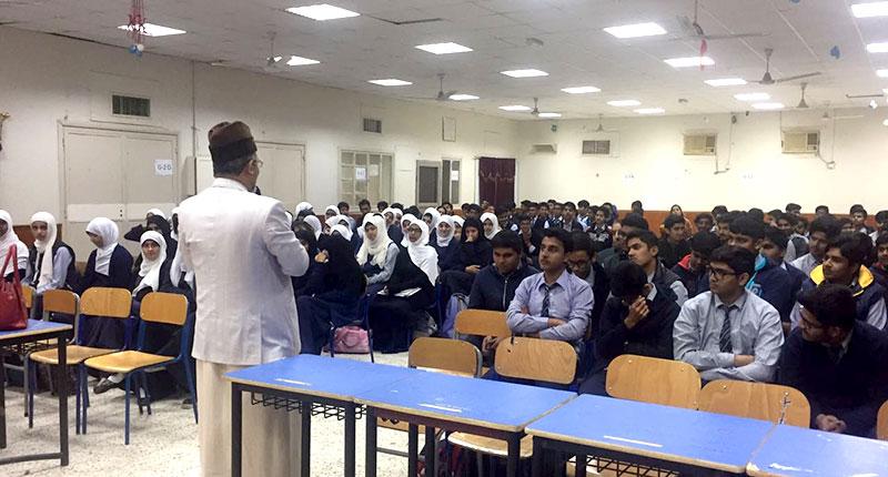 علامہ حسن میر قادری کا پاکستان انٹرنیشنل انگلش سکول جلیب الشیوخ کا دورہ