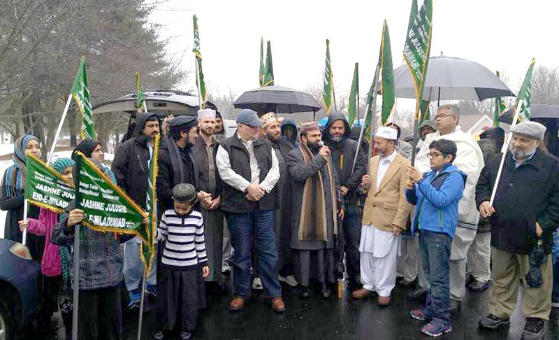 امریکہ: منہاج القرآن انٹرنیشنل کا کنیٹیکٹ میں میلاد النبی (ص) کا جلوس