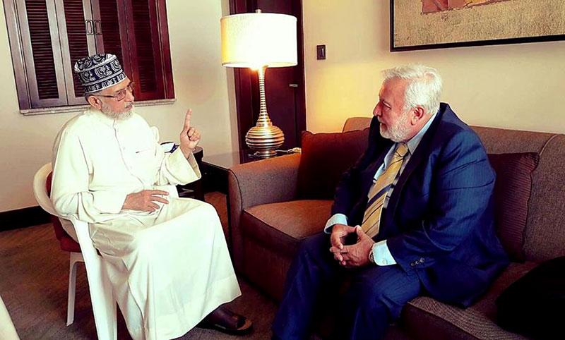 Dr. Safi Kaskas calls upon Dr. Tahir-ul-Qadri