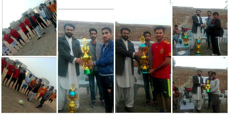 جہلم: سال نو 2017ء کے آغاز پر یوتھ ونگ کا فٹبال میچ