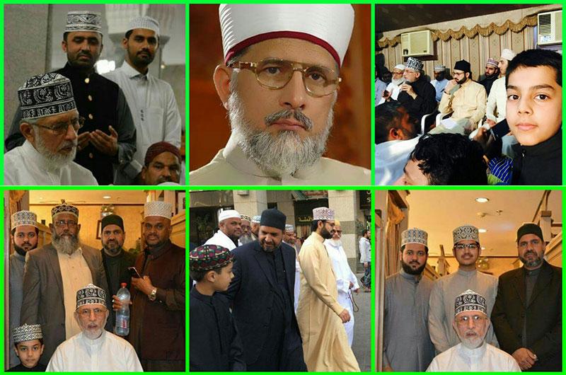 کویت سے وفد کی شیخ الاسلام ڈاکٹر محمد طاہرالقادری  کے ساتھ عمرہ ادائیگی