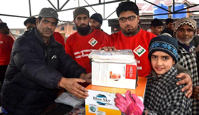 جموں کشمیر: منہاج انٹرفیتھ اینڈ ویلفیئر فاؤنڈیشن کا سری نگر میں ونٹر ریلیف کیمپ