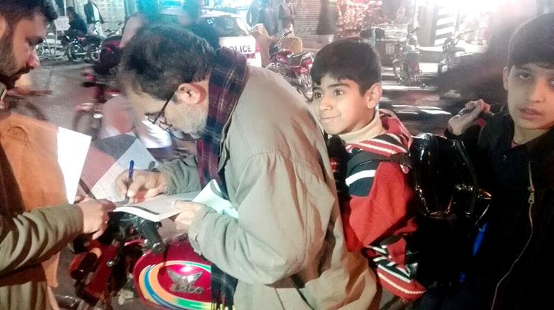 شیخوپورہ، پشاور اور ایبٹ آباد میں ضرب امن دستخطی مہم