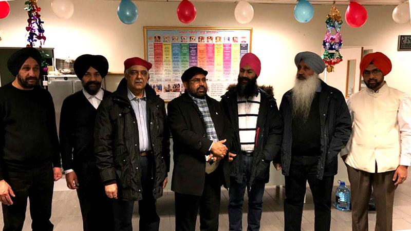 ناروے: سہیل احمد رضا کا گوردوارہ درمن کا دورہ