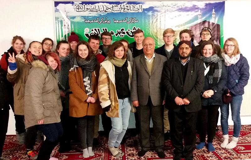 جرمنی: یو این او کے طلباء وفد کا منہاج القرآن اسلامک سنٹر برلن کا دورہ