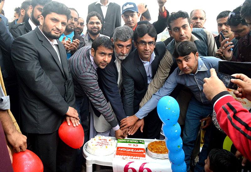 جہلم: یوتھ ونگ کی قلعہ روہتاس میں قائد ڈے تقریب