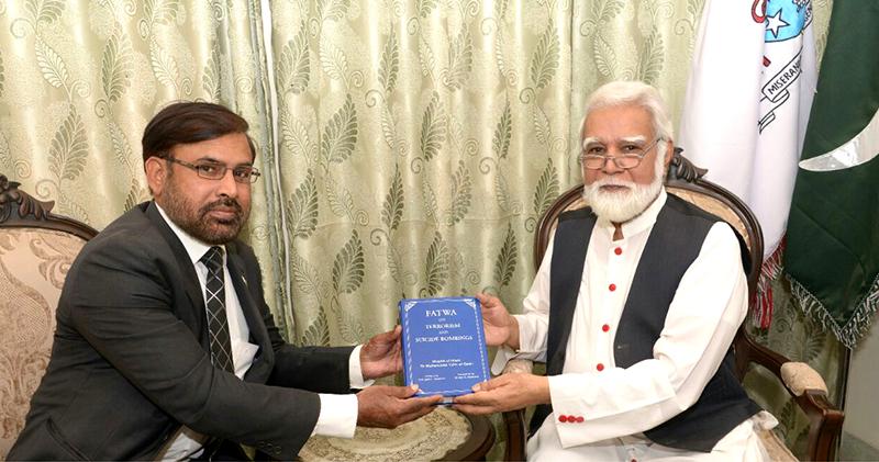 بشپ جوزف کوٹس سے ڈائریکٹر انٹرفیتھ ریلیشنز منہاج القرآن سہیل احمد رضا کی ملاقات