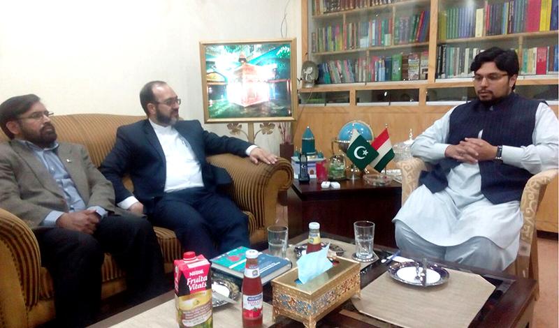 ایران کے اسلامک کلچر ریلیشنز کے ڈائریکٹر جنرل آغا حامد کی ڈاکٹر حسین محی الدین سے ملاقات
