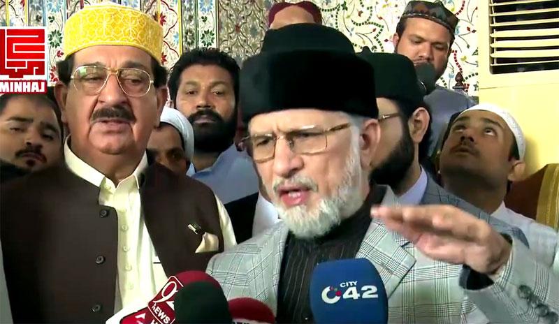 ڈاکٹر طاہرالقادری کی نماز عید کے بعد میڈیا سے گفتگو