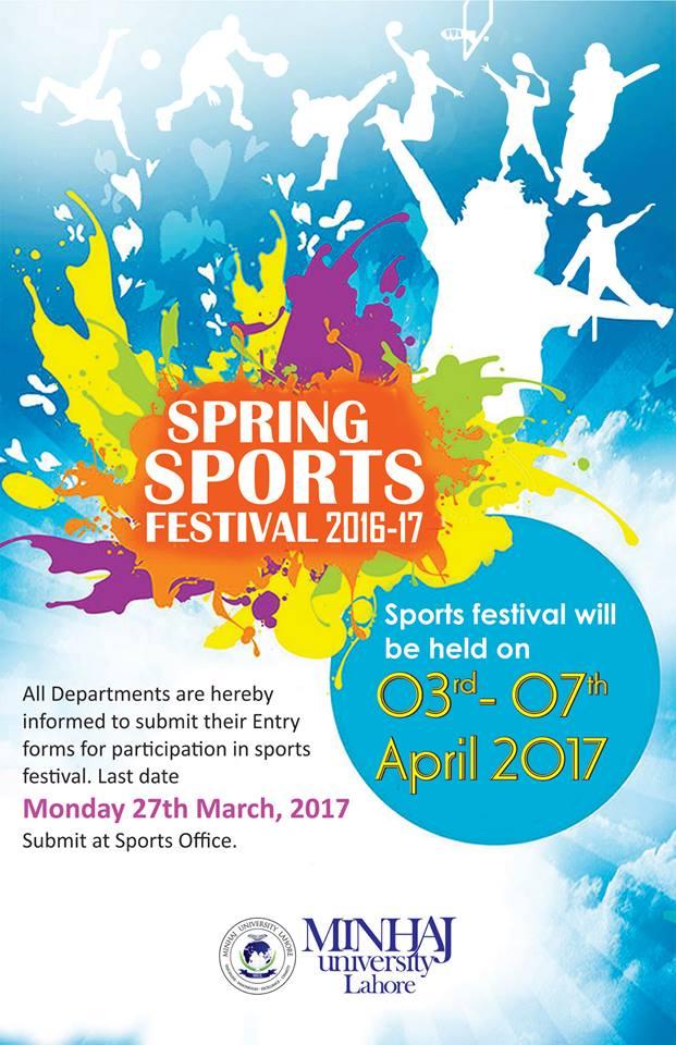 ''کھیل برائے امن'' منہاج یونیورسٹی میں سپورٹس فیسٹول 3 اپریل سے شروع ہو گا