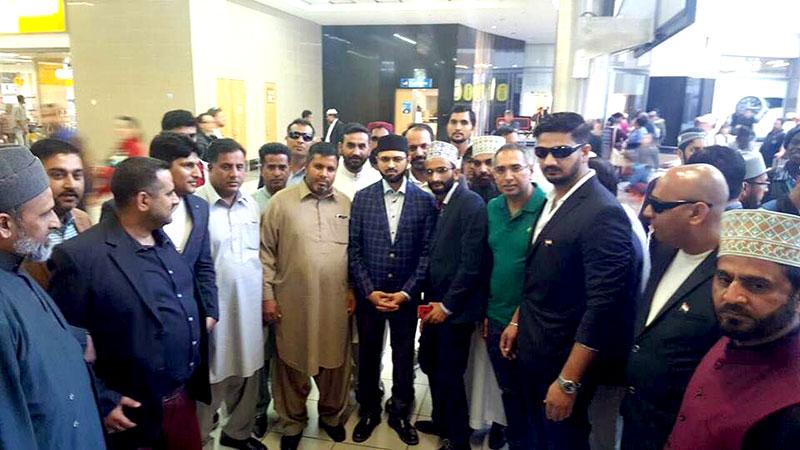 چیئرمین سپریم کونسل ڈاکٹر حسن قادری دعوتی وتنظیمی دورہ پر ساؤتھ افریقہ پہنچ گئے