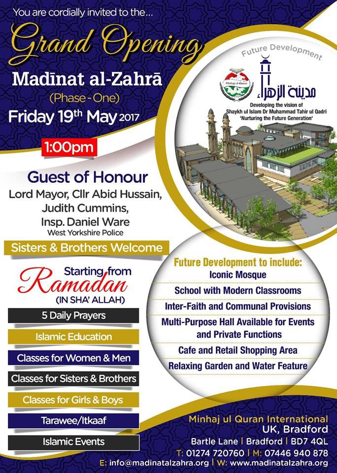 UK: Grand Opening of Madinat al-Zahra (Phase-One) - 19th May 2017