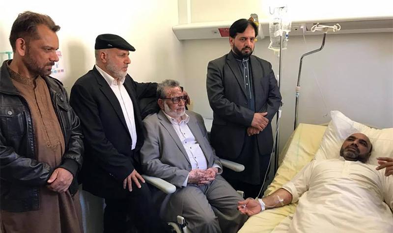 فرانس: منہاج القرآن کے قائدین کی نجی ہسپتال میں حاجی محمد اسلم چودھری کی عیادت