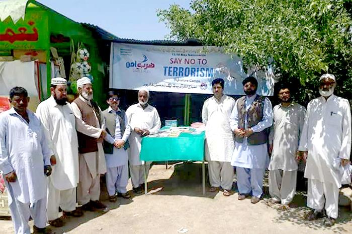 خیبر پختونخواہ کے مختلف اضلاع میں  SAY No To Terrorism دستخطی کیمپس