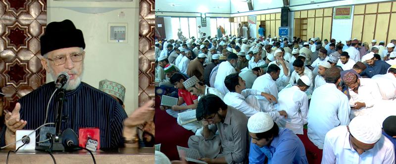 شہدائے ماڈل ٹاؤن کی تیسری برسی کے موقع پر شہر اعتکاف میں قرآن خوانی