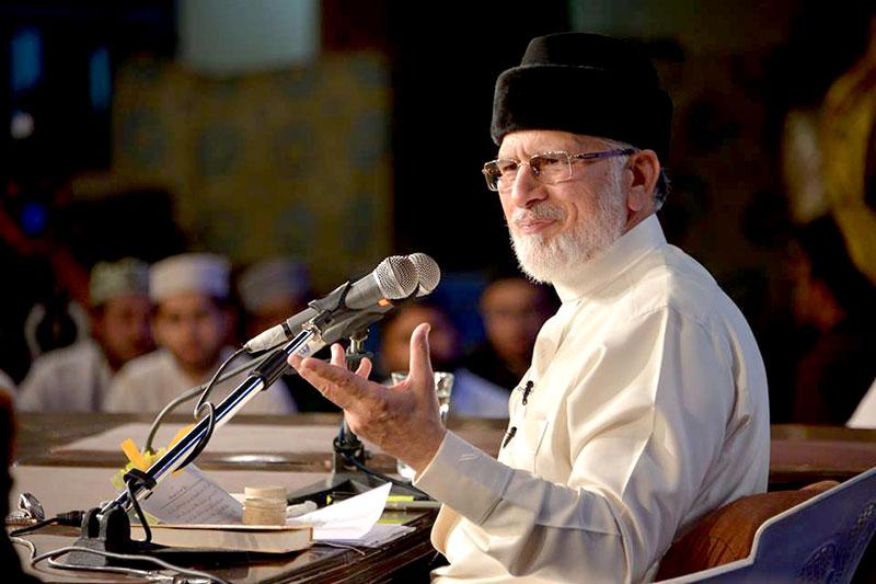ادب اور اخلاق دین کی روح ہے: شہر اعتکاف میں ڈاکٹر طاہرالقادری کا خطاب