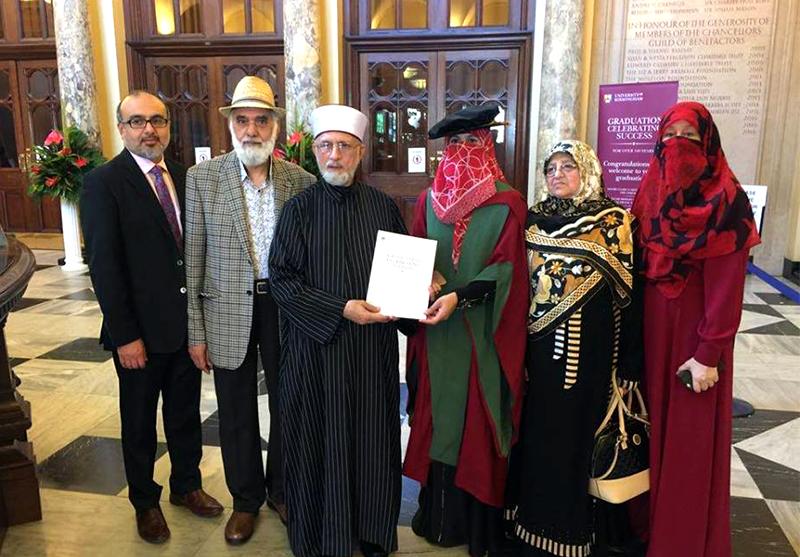 Congratulations to Respected Sister Dr Ghazala Hassan Qadri on awarding her PhD