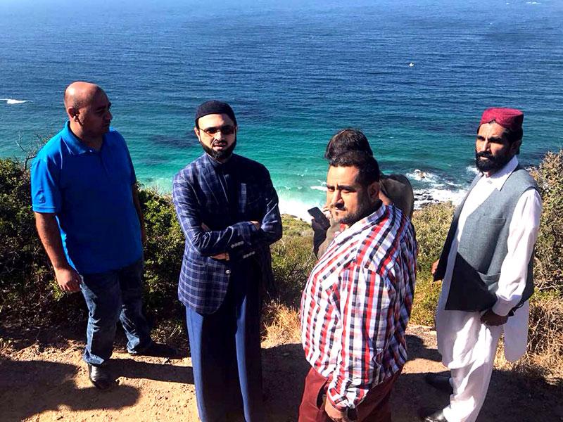 جنوبی افریقہ: ڈاکٹر حسن محی الدین کا ٹیبل ماؤنٹین کا وزٹ